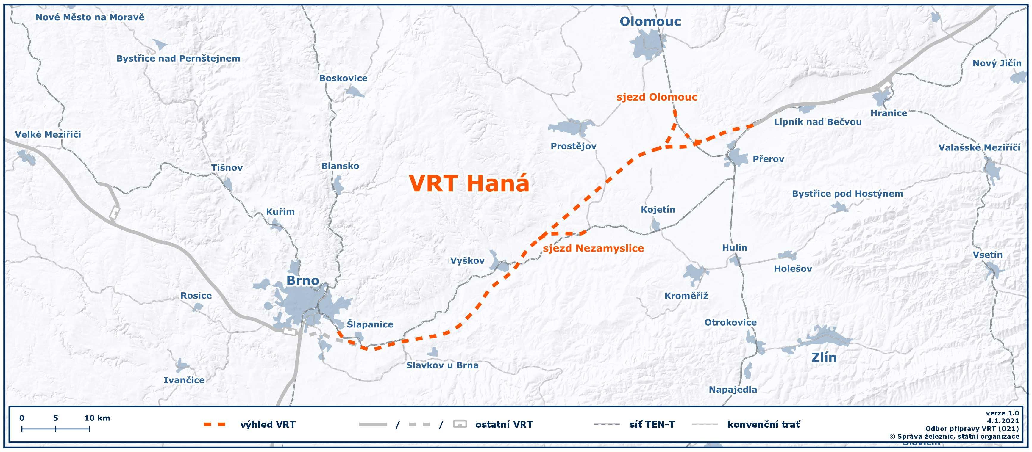 Mapa VRT Haná