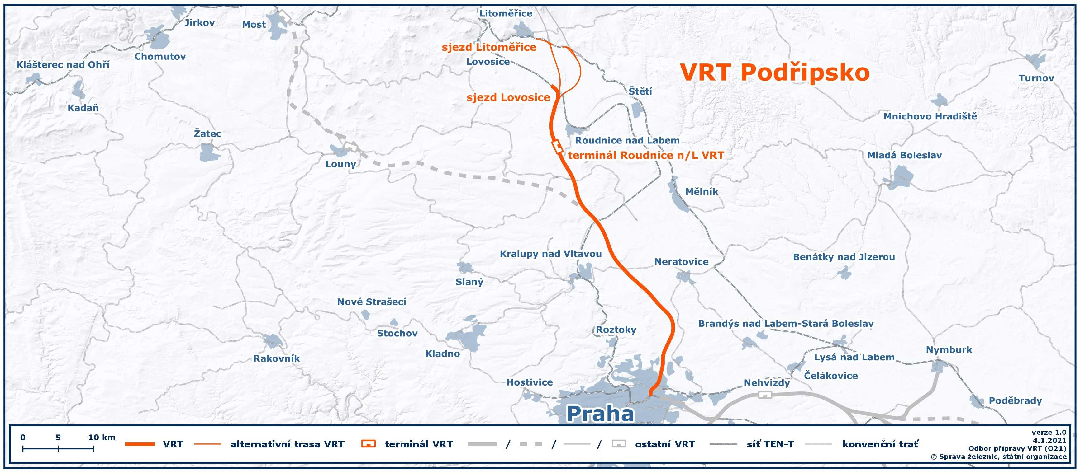Mapa VRT 4