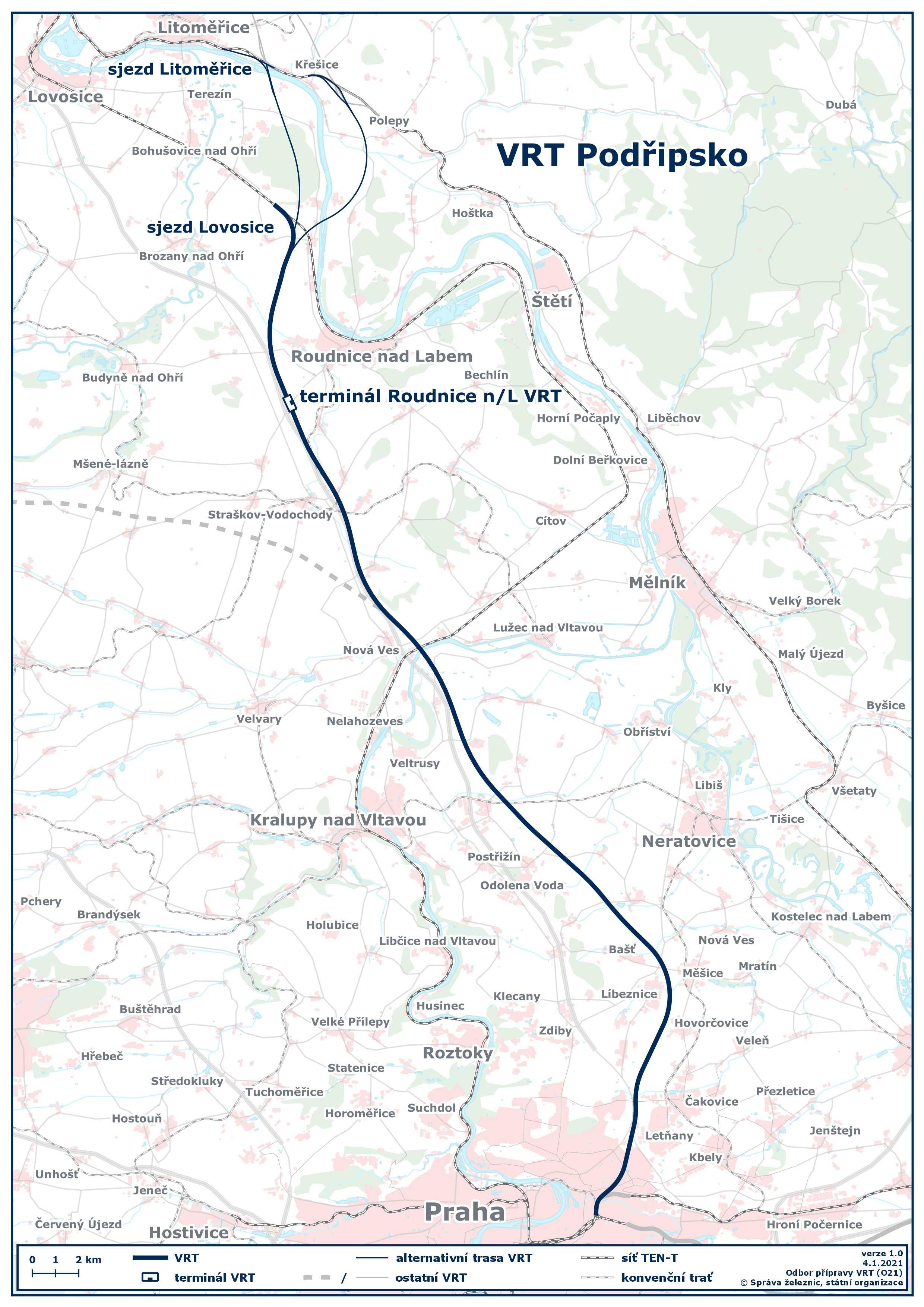 Mapa VRT Podřipsko