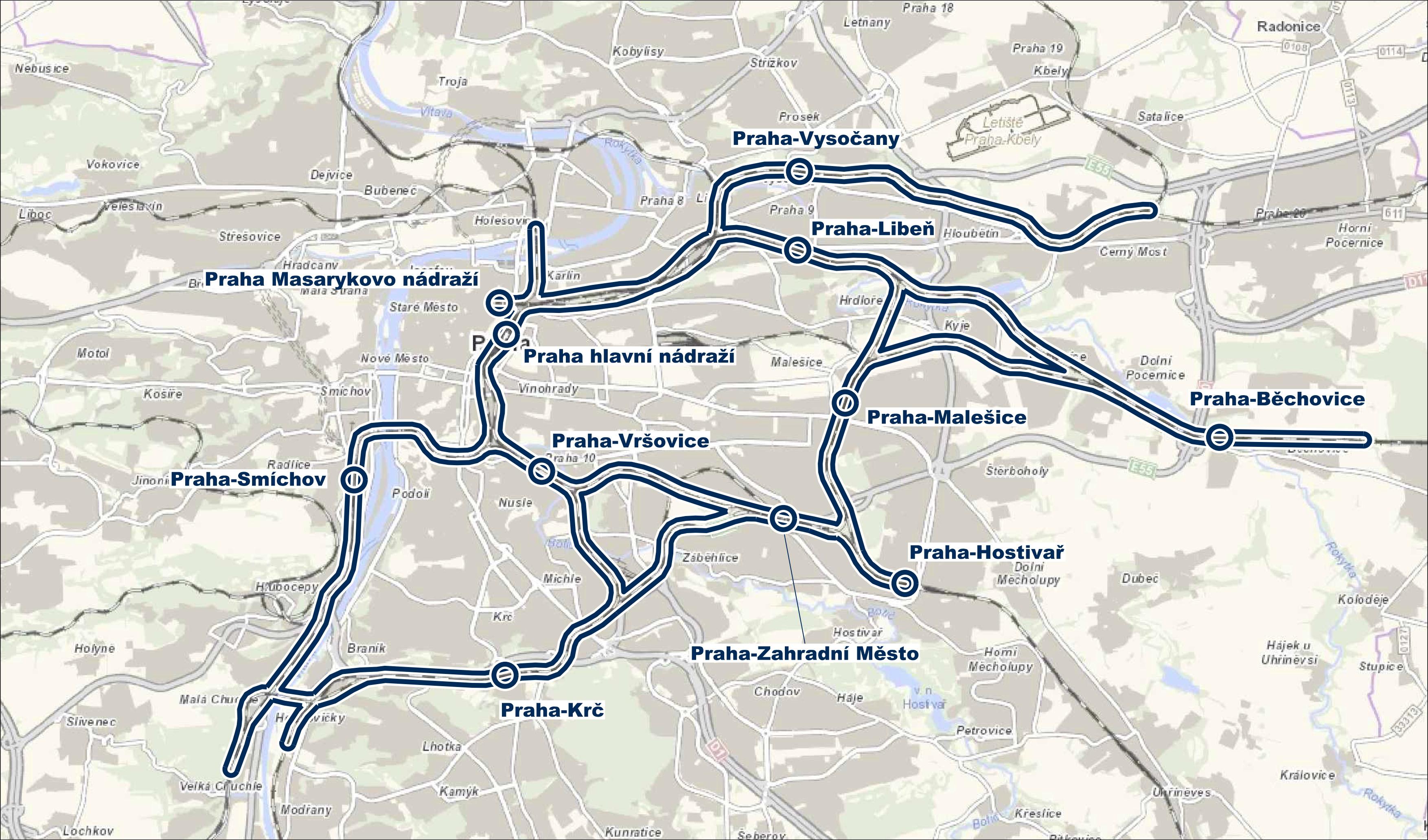 Mapa - rozsah řešení ŽUP