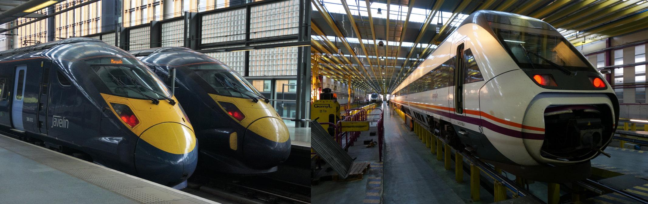 obrázek: British Rail řada 395 Javelin/RENFE řada 121